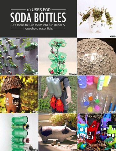 10 uses for empty soda bottles real estate blog for Home decor using plastic bottles