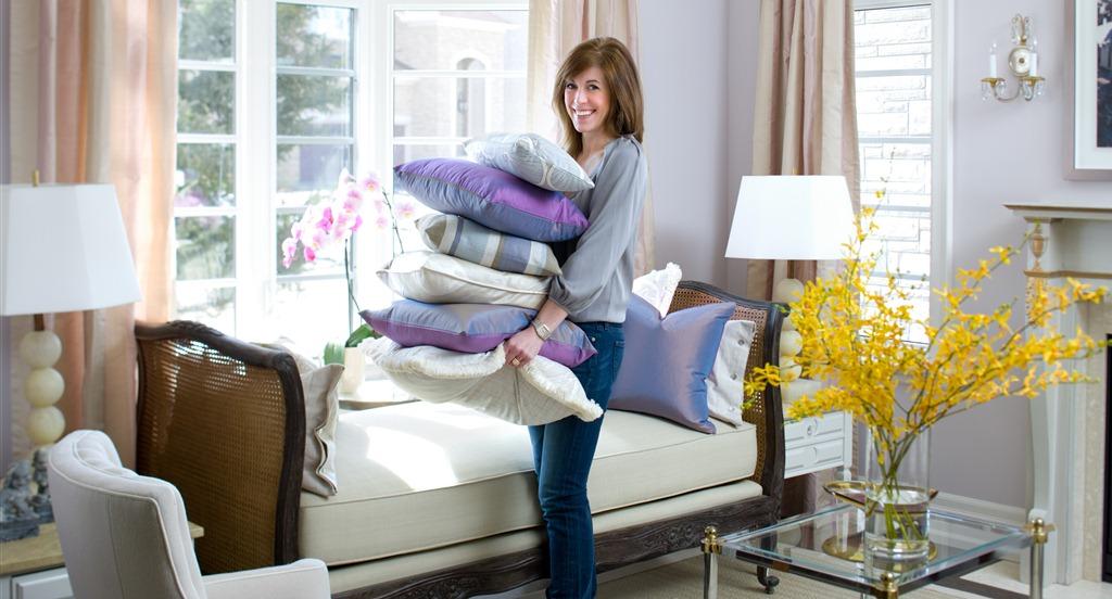 Sarah Richardson Carrying Pillows Wide