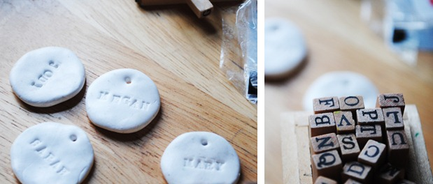 DIY Clay Name Cards