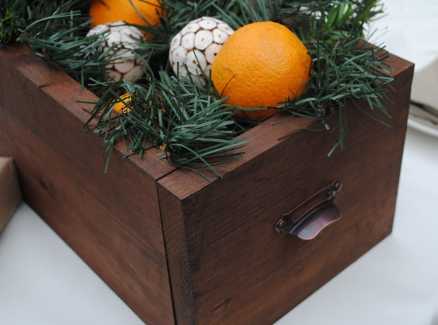 Festive Rustic Centerpiece