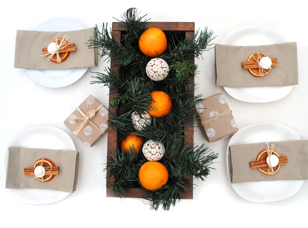 Holiday Rustic Table Setting