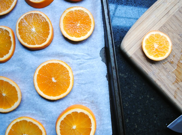 Oranges in a Table Setting