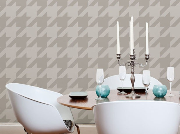 Houndstooth-Wall-Stencil