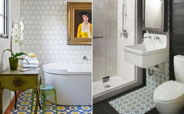 24 original encaustic tiles bathroom for Trends in bathroom tile