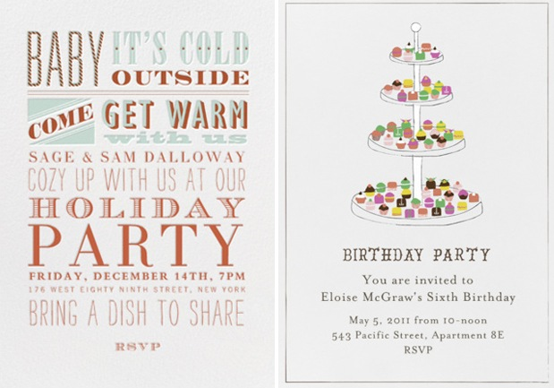 Holiday Party-Invitations