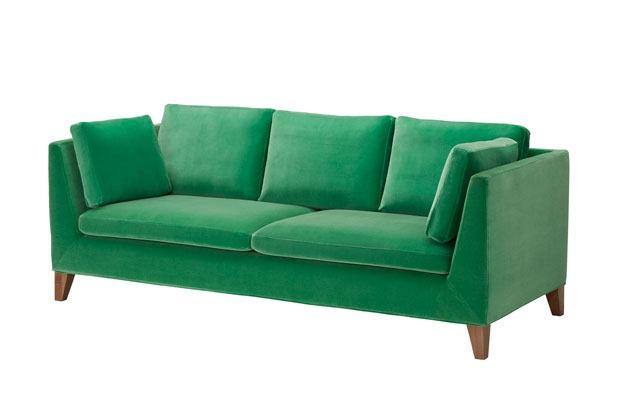 Trends-2014-Ikea-Green-Velvet-Sofa-Mid-Century