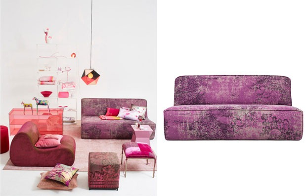 Trends-2014-Radiant-Orchid-ABC-Carpet-Home-Settee-Overdyed
