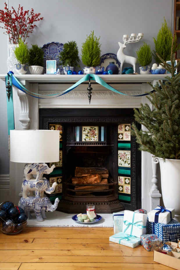 Holiday Mantel-After