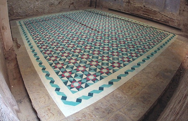 graffiti-floor-spray-paint-tile-pattern-installations-javier-de-riba-1