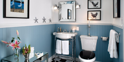 bathrooms with country flair