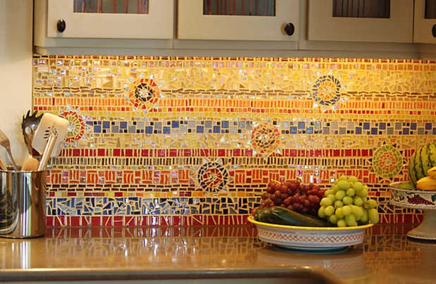 Kitchen Backsplash Orange