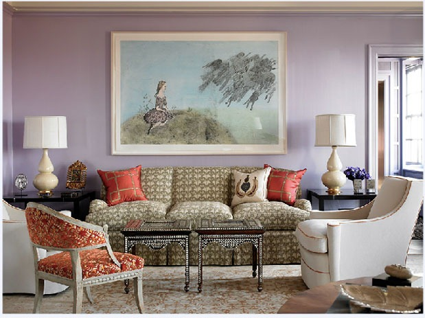 lavender-and-orange-wall-paint-colour-combo