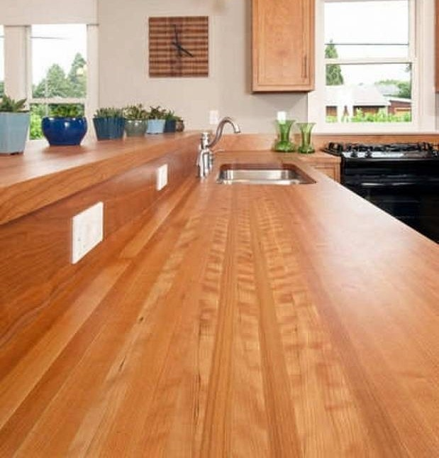 Buy Kitchen Countertops : Bungalow kitchen with wood countertop by The Joinery via Houzz