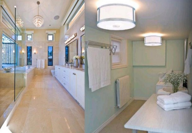 HGTV Bathroom Lighting-Flush-Mounted_Houzz and DVI Canada