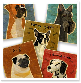 John W. Golden's Pooch Dog Art