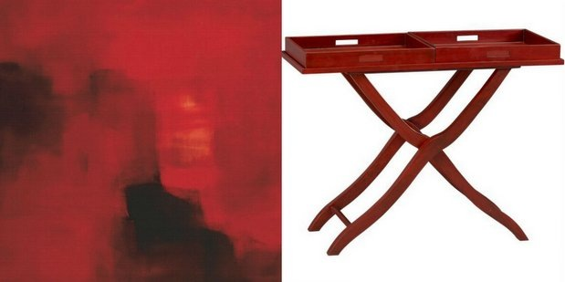 Oxblood_canvas print and tray table