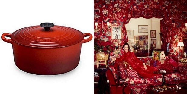 Oxblood_cookware and DV living room