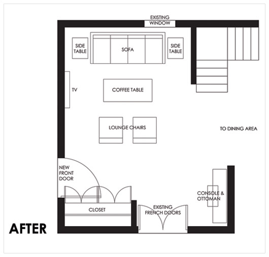 Design Dilemma: Cheryl Creates the Perfect Living Room Floor Plan