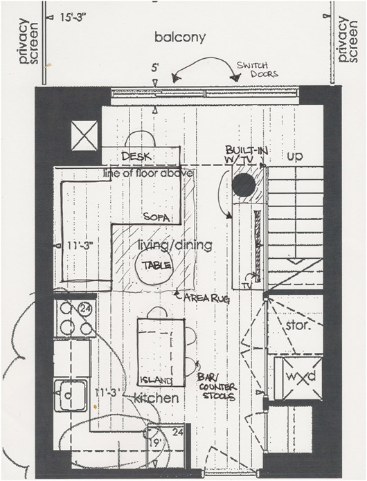 Pin floor plan space utilization on pinterest - Small space floor plans photos ...