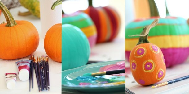 Painted Pumpkins-DIY