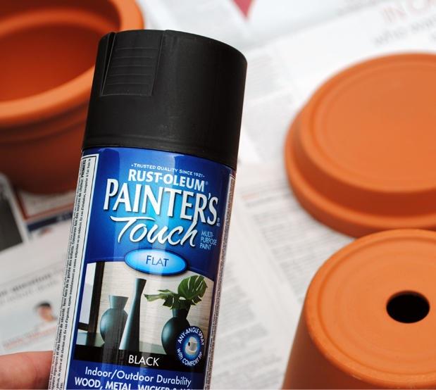 DIY Spider Fountain-paint