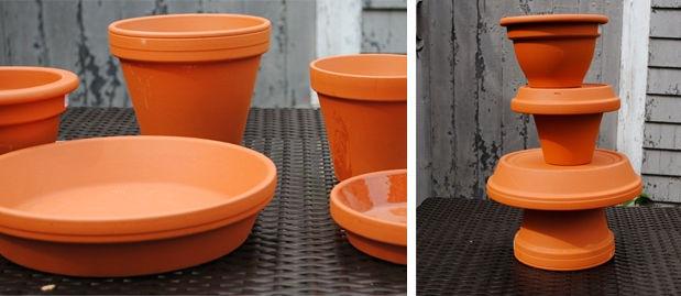 DIY Spider Fountain-pots