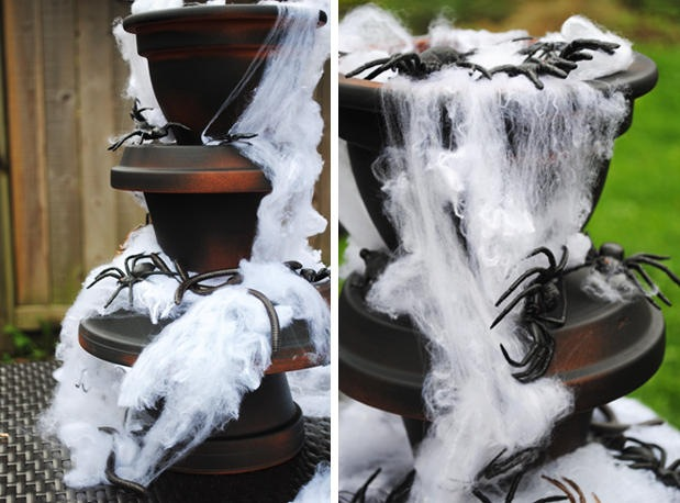 DIY Spider Fountain-webs