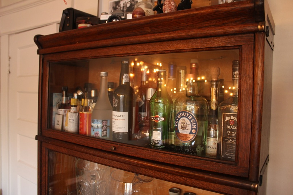 Homemade Liquor Cabinet