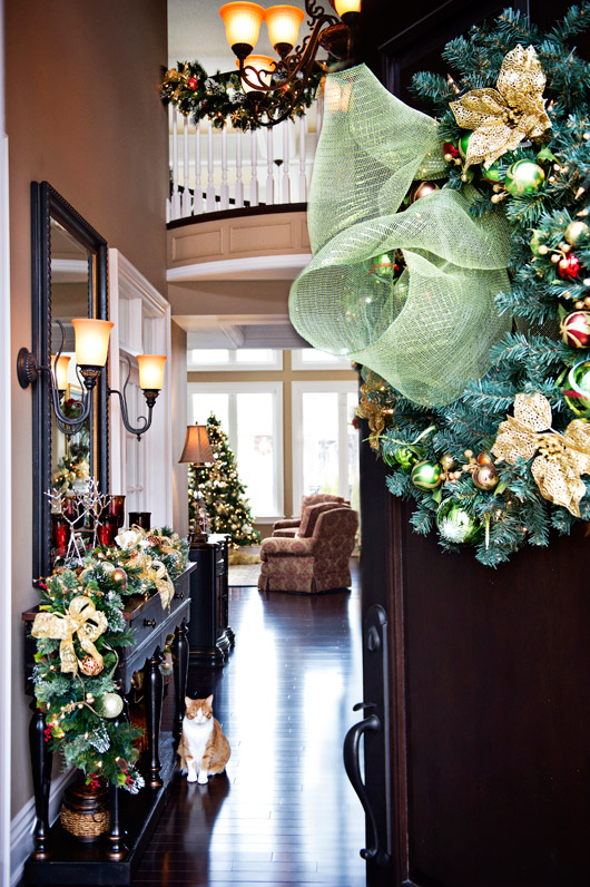 Decorating Ideas > Festive Home Tour Classic Christmas In Red, Gold And Silver ~ 165708_Christmas Decorations Home Tour