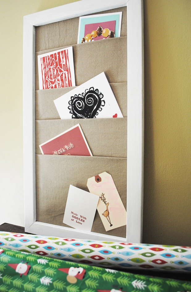 Holiday Card Holder at Home