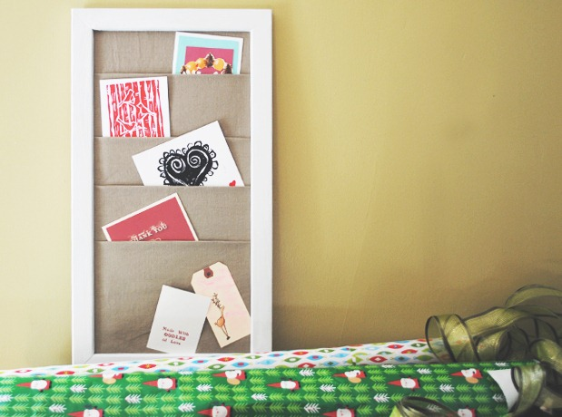 Holiday Card Holder Craft