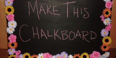 Homemade Chalkboard for Kids