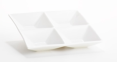 4 part compartment plate