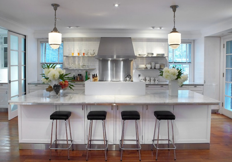 Kitchen on pinterest modern white kitchens white for New kitchen ideas