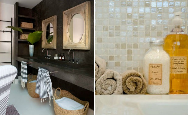 bathroom tile trend concrete iridescent - Bathroom Tiles Trends 2013