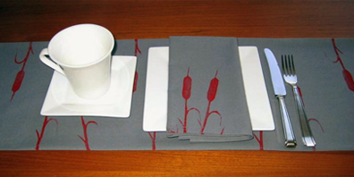 Printed Table Runner and Napkins