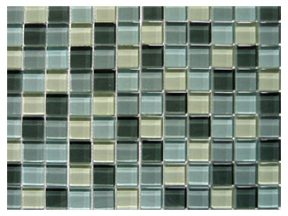 what would you choose for a backsplash tri coloured glass mosaic