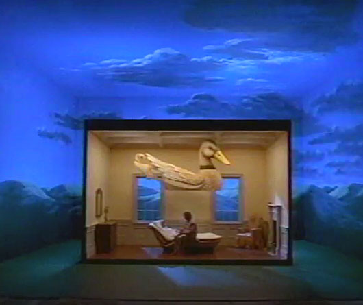 This Of Course Is A Movie Set, But That Bed Is Real! The Lid Lowers To  Create A Swan Cocoon, And Glows Softly From Within. Do You Know To Which  Movie This ...