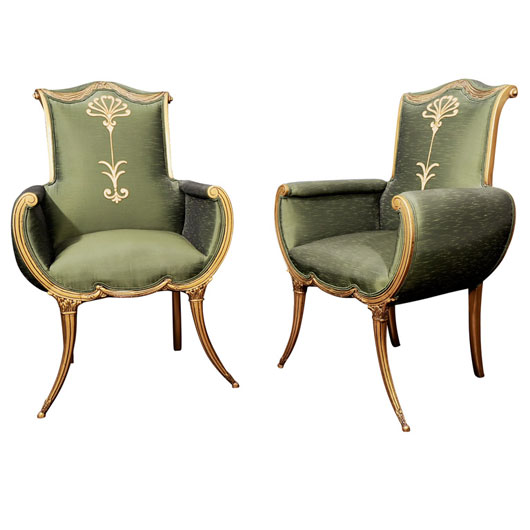 Superior Which Pair Of Chairs Is Of The Hollywood Regency Style?