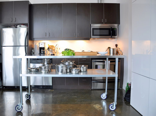 Restaurant Kitchen Island real people living in condos: finding the perfect kitchen island