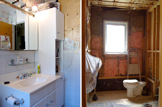 Real Bathroom Makeovers real people reno: master bathroom makeover from 80s to spa-tastic