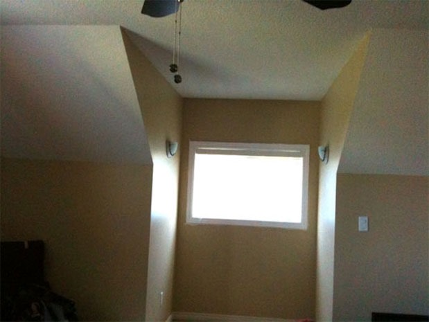 Sam pynn on when to stop painting a slanted ceiling for Painting rooms with angled ceilings