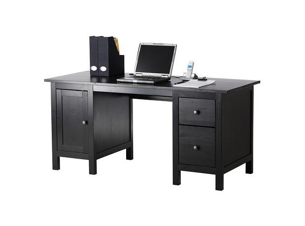 Splurge vs Steal Sleek Dark Wood Desks