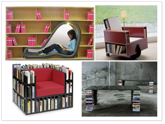 Top 5 book storage ideas you wish you thought of - Cool storage ideas for small spaces concept ...