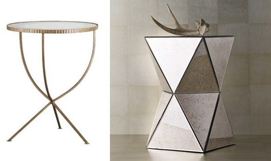 High Quality From Left, Jules Large Accent Table, $299, Photo From Crate U0026 Barrel;  Right, Faceted Mirror Sidetable, $199, Photo From West Elm