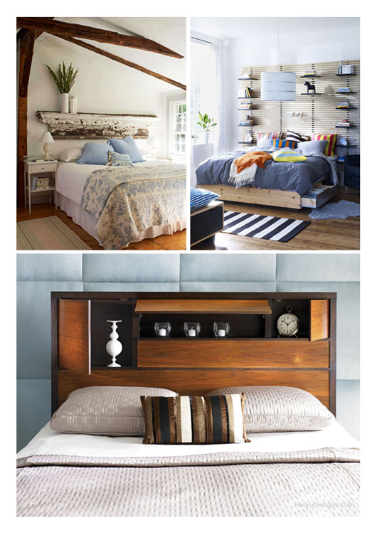 Ikea Malm Queen Platform Bed With Nightstands ~ Clockwise from the left; TChochkes , IKEA MANDAL Shelf Headboard via