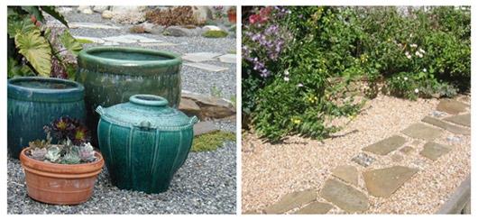 Ideas for landscaping grassless backyard landscaping for Grassless garden designs