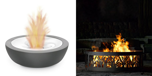 Blomus Fuoco Tabletiop Get Firepit, $165.60; P U0026 D Metal Works Cattail Fire  Ring, $113.05USD