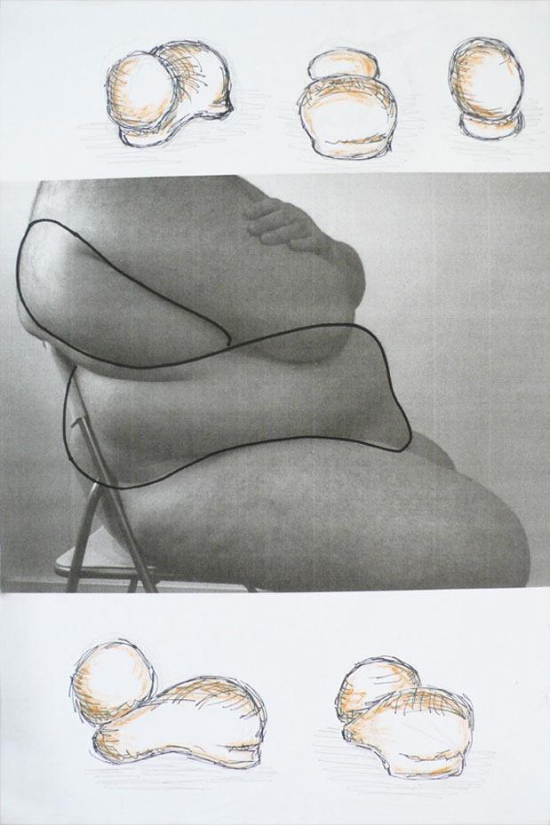 Human-Flesh-Chair-Model