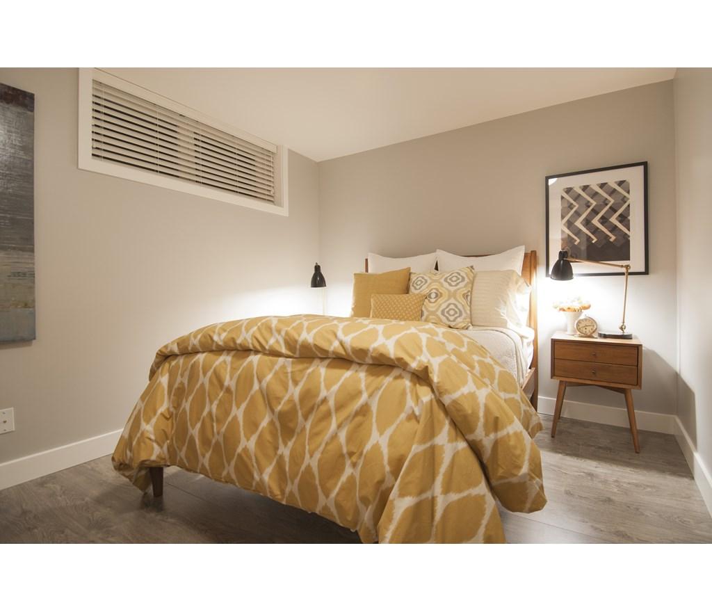Sunny Modern Basement Bedroom